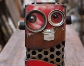 Red Retro Robot Bank