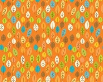 Riley Blake Designs Harvest Leaves Orange - 1 yard