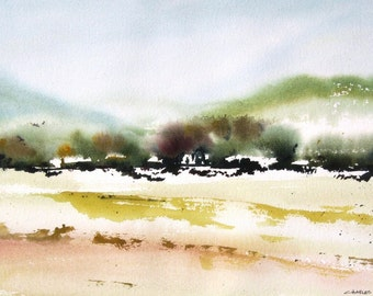 Summer Highlands - Original Watercolor Painting