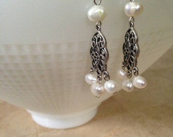 Pearls and Chandelier Earring