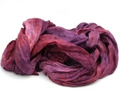 Hand Dyed Pure Silk Scarf in Light Shades of Purple and Pink