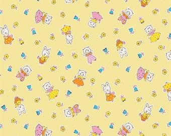 Yellow Milk Friends Milk sugar & flower Penny Rose Fabrics