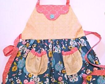 Toddler Girl's Kitchen/Art Aprons: Monogramming Optional