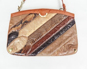 Brown Snakeskin Purse