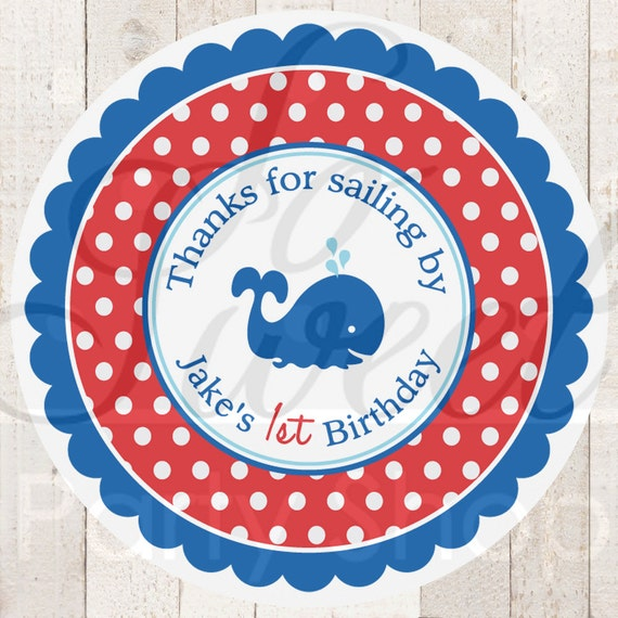 Nautical 1st Birthday Stickers