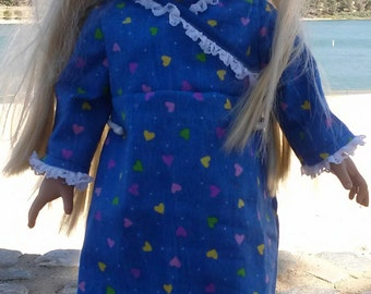 Night Gown - 18 Inch Doll Clothes