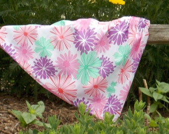 READY TO SHIP: Sassy Flower Power in Pink and Purple Skirt, Size 7