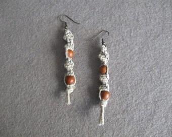 Macrame beaded earrings