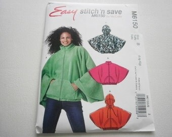 Pattern  Womens Capelets 2 Styles Sizes 16 to 22 Easy McCalls 6150 A