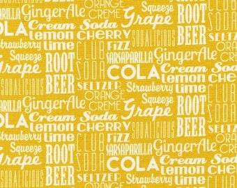 Sodalicious Diet Sodalicious Lemon by Emily Herrick for Michael Miller, 1/2 yard