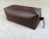 Faux Ostrich Vinyl Men's Shaving Bag, Men's Toiletry Bag, Men's Dopp Kit, Men's Shaving Kit, DOP76633