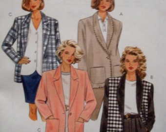 Women's Jacket Plus Size Lined or Unlined Loose Fit Size 20 - 22 - 24 Bust 42 - 44 - 45 McCall's 2948 Uncut FF Women's Sewing Pattern
