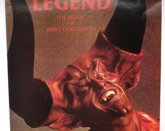 "Rare ""Legend"" Vinyl Soundtrack (1986 British Version) Jerry Goldsmith LP - Very Good Condition"