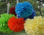 Decorative paper poms. Set of 120. Birthday party, Baby shower, Bridal shower decorations.