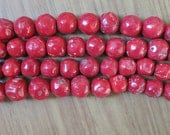 RARE Super Giant Large Red Coral Nugget beads 28-30mm- 14pcs/strand,