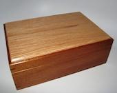 "SALE! Mahogany and Oak Keepsake Box By Artistic Boxes. 10.5"" x 7.25"" x 4""."