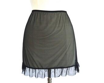 90's Sheer High Rise Mini Skirt size - L
