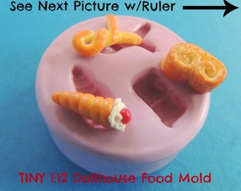 Miniatures Silicone Mold Teeny Tiny Dollhouse Food Resin Polymer Clay Flexible Molds