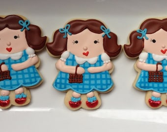 Dorothy Glittery Red Slippers Sugar Cookies
