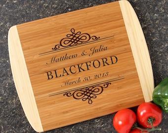 Personalized Wedding Gift, Personalized Cutting Board, Custom Engraved Cutting Board, Bamboo Cutting Boards, Housewarming Gift-14 x 11 D14