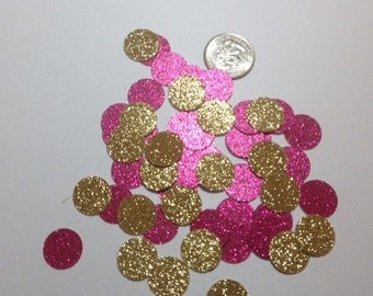 Pink and Gold Confetti, Pink and Gold Birthday Decorations, Pink and Gold Decorations, Pink and Gold Baby Shower, Pink and Gold Party