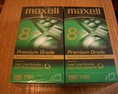Maxell VHS T-160, Factory Sealed Video Cassettes, Lot of 4, by Nanas Vintage Shop