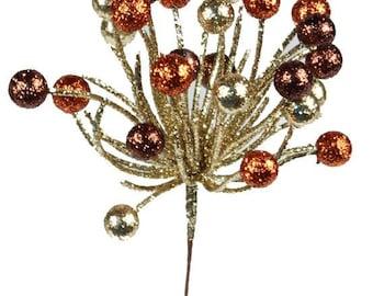 Fall Berry Glitter Pick XS851346, Fall Wreath Decor, Wreath Decorations
