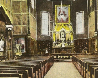 Martyrs' Shrine Interior Midland Ontario – Unused Vintage Postcard
