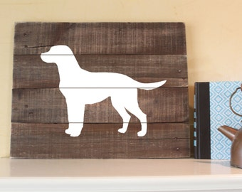 Labrador Retriever, Silhouette, Reclaimed Wood Sign, Labrador Art, Lab Art, Labrador Painting, Labrador Plaque, Labrador Gift, Wood Labrador