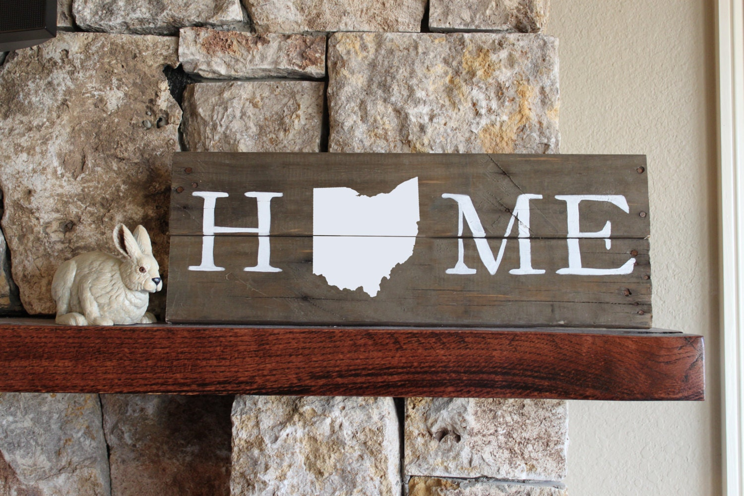 Ohio home reclaimed wood sign ohio map sign buckeye sign - Home decor texas ideas ...