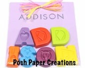 Personalized Name crayons with named stapmed - four (4) letters