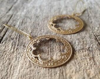 Golden Moroccan Hoop Earrings, Gold Earrings, Gift For Her, Moroccan Earrings, Bohemian Earrings, Bohemian Jewelry, Mother's Day