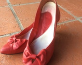 80's Lipstick Red Bow Heels 9