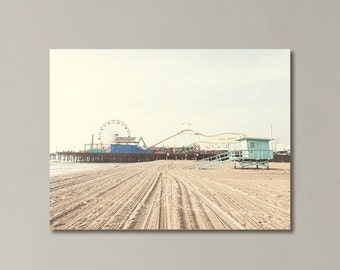 "Santa Monica Pier Canvas Art, California, Los Angeles, Beach Photography, California Wall Art, Gallery Wrap, "" Santa Monica Pier"""