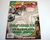 Vintage DECORATIVE CROCHET Pattern Book...placemats - bedspreads- doilies - July 1996 - collectible patterns - crochet