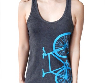 Fixed Gear Bicycle Fixie Bike Shirt Female Racerback Tank Top  - ON SALE!