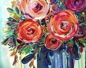 Summertime bouquet painting | ooak