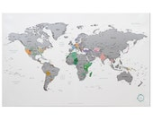 Scratch Off World Map - White Silver Worldmap