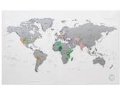 Scratch Off World Map - White Silver Worldmap
