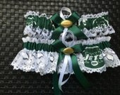New York Jets handmade wedding garter or prom any size, color or style.
