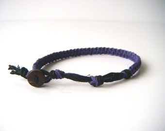 Purple Hemp Bracelet, Hemp Anklet, Indie Hemp Works, Simple, Hemp Bracelets, Hemp Anklets, Royal Purple, Hemp Jewelry, Aromatherapy