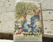 Eeyore and Butterfly Light Switch Plate Cover Day in the Park