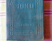 Antique Leather Small Book  MUMU Ivan Turgenev Classic Literature New York Little Leather Library Corporation 1921