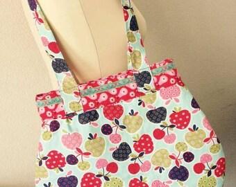 Bag totebag shopper mint red purple pink green blue handmade