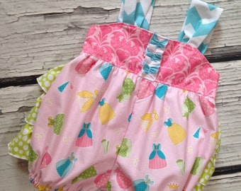 Sunsuit Bubble Romper Dreams Come True Collection with Ruffled Bum