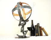 "WINE BOT - ""Atlas Shrugged"" - Wine Barrel Ring Desk Lamp - 100% Recycled"