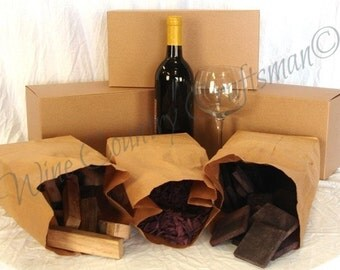 """THE SAMPLER - """"Wine soaked oak"""" from premiere Napa vineyards - gift packaged- 100% recycled"""