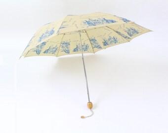 VINTAGE New York City Umbrella Skyline