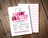 DIY Printable Oh Baby Baby Twin Baby Shower Invitation
