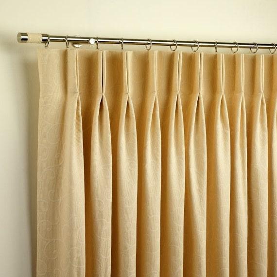Custom duo pleat drapery panels